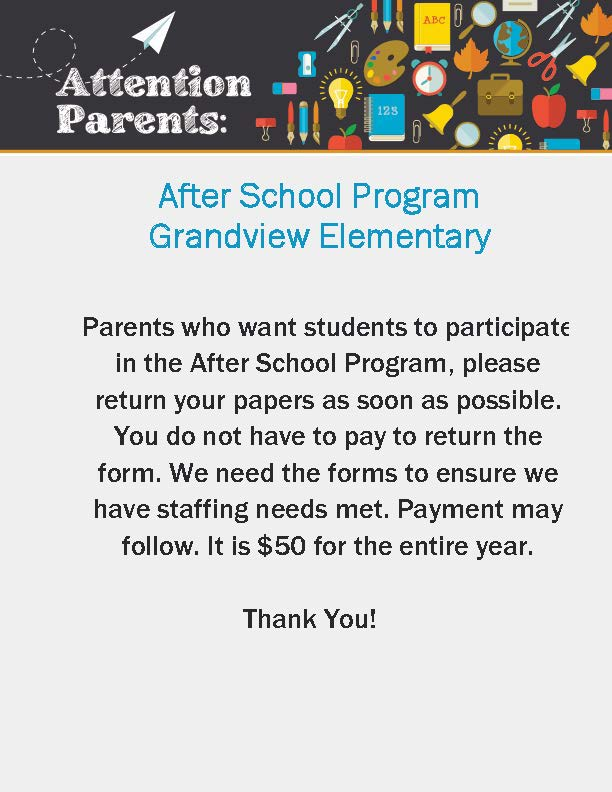 GV after school program flyer
