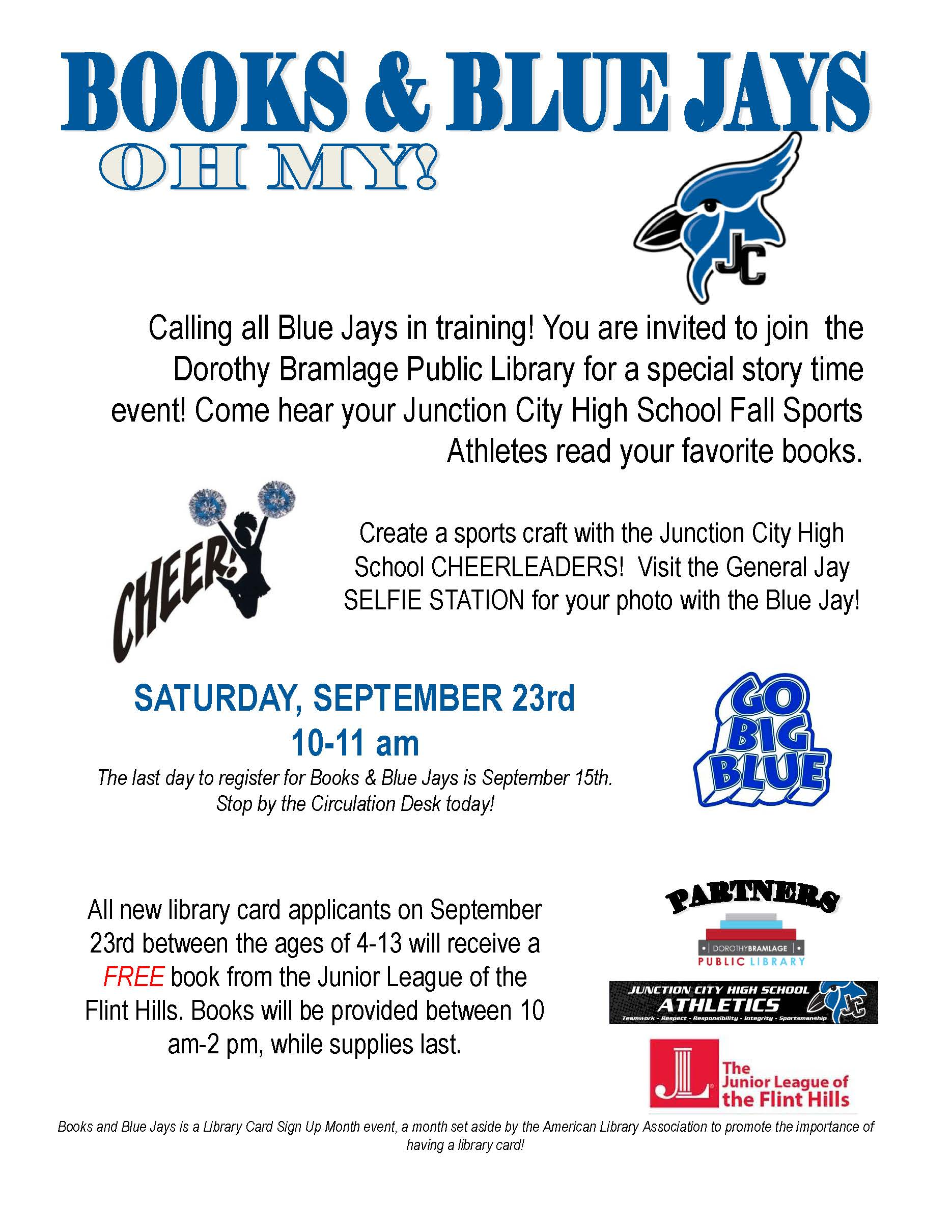 Books and Blue Jays Flyer