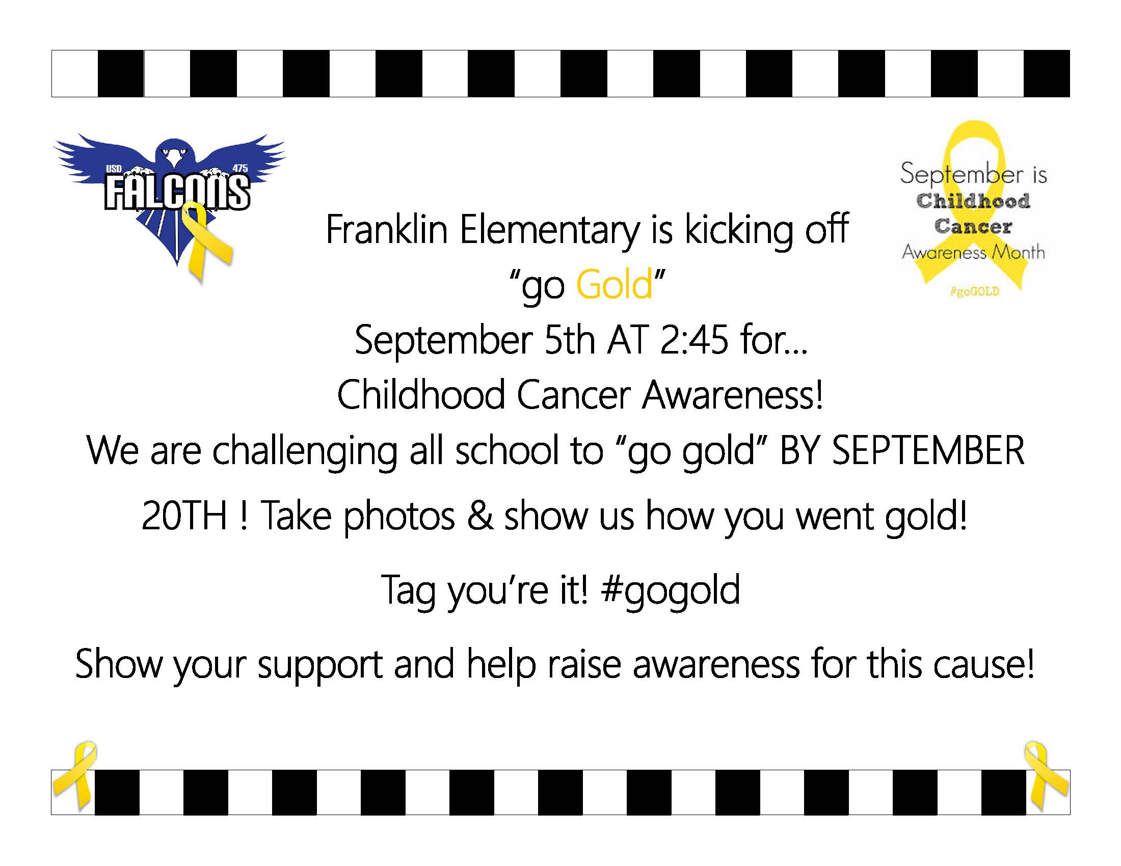 Franklin Elementary Go Gold Flyer