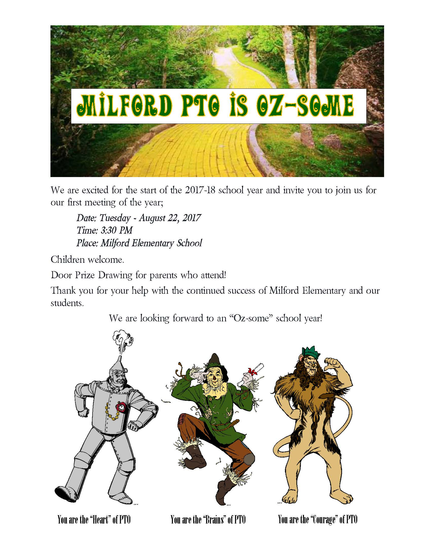 Milford PTO Flyer