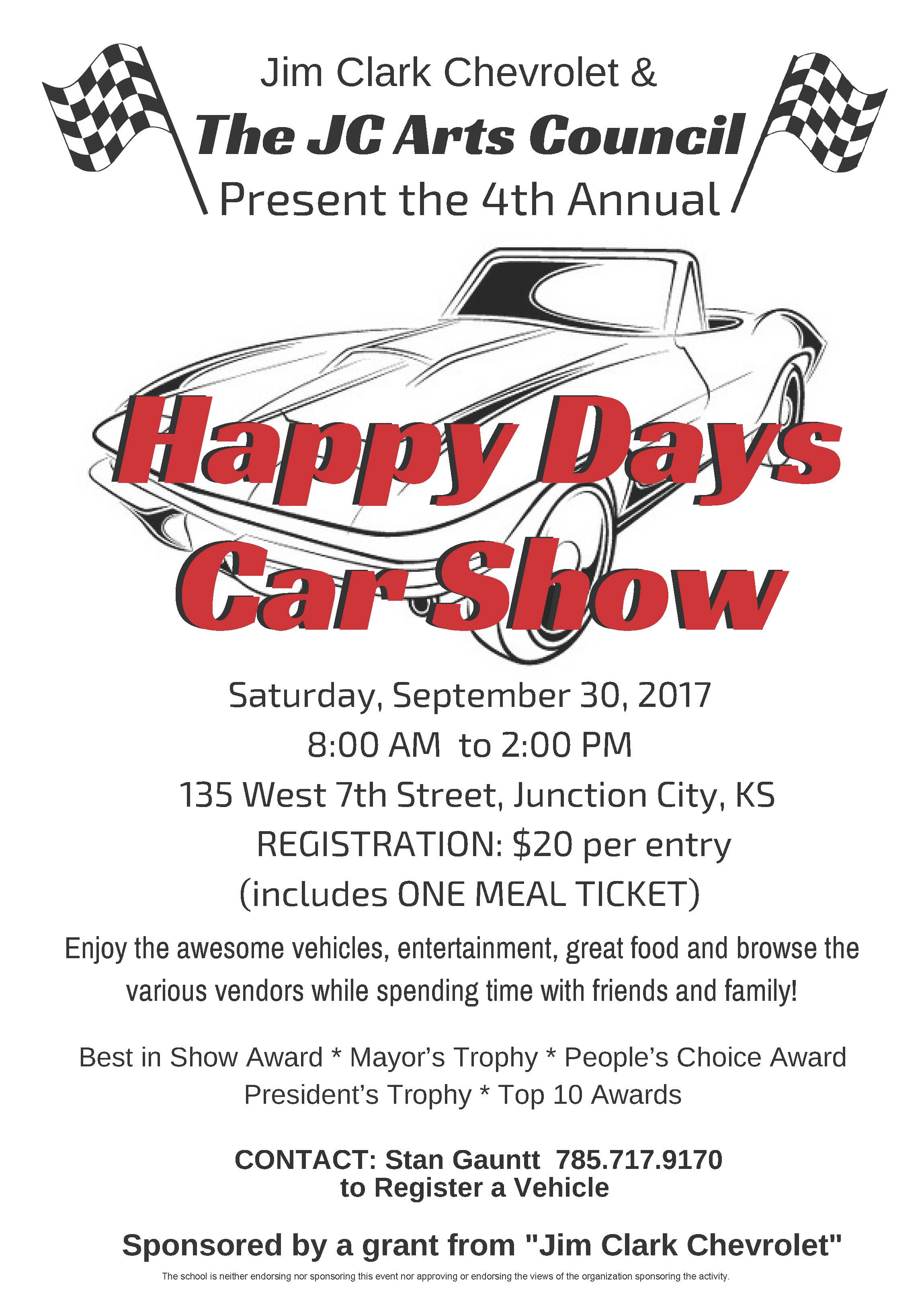 Happy Days Car Show Flyer