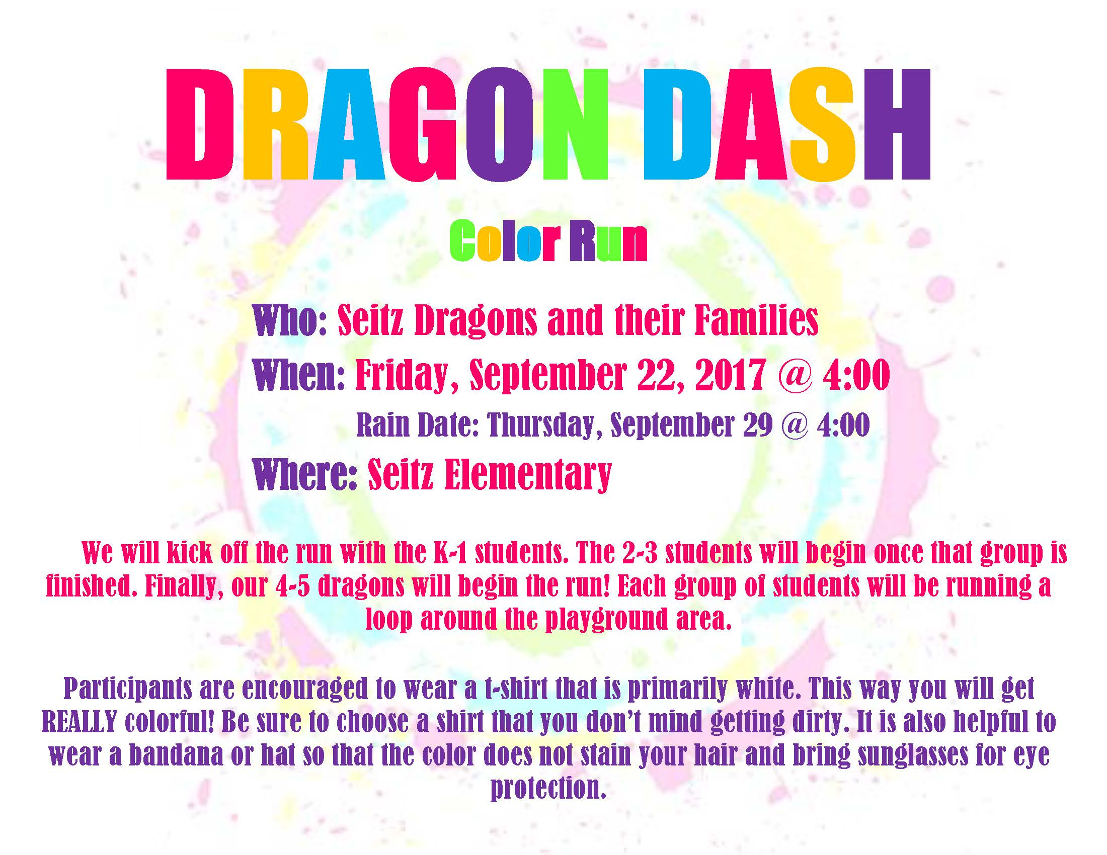 Dragon Dash Color Run Flyer