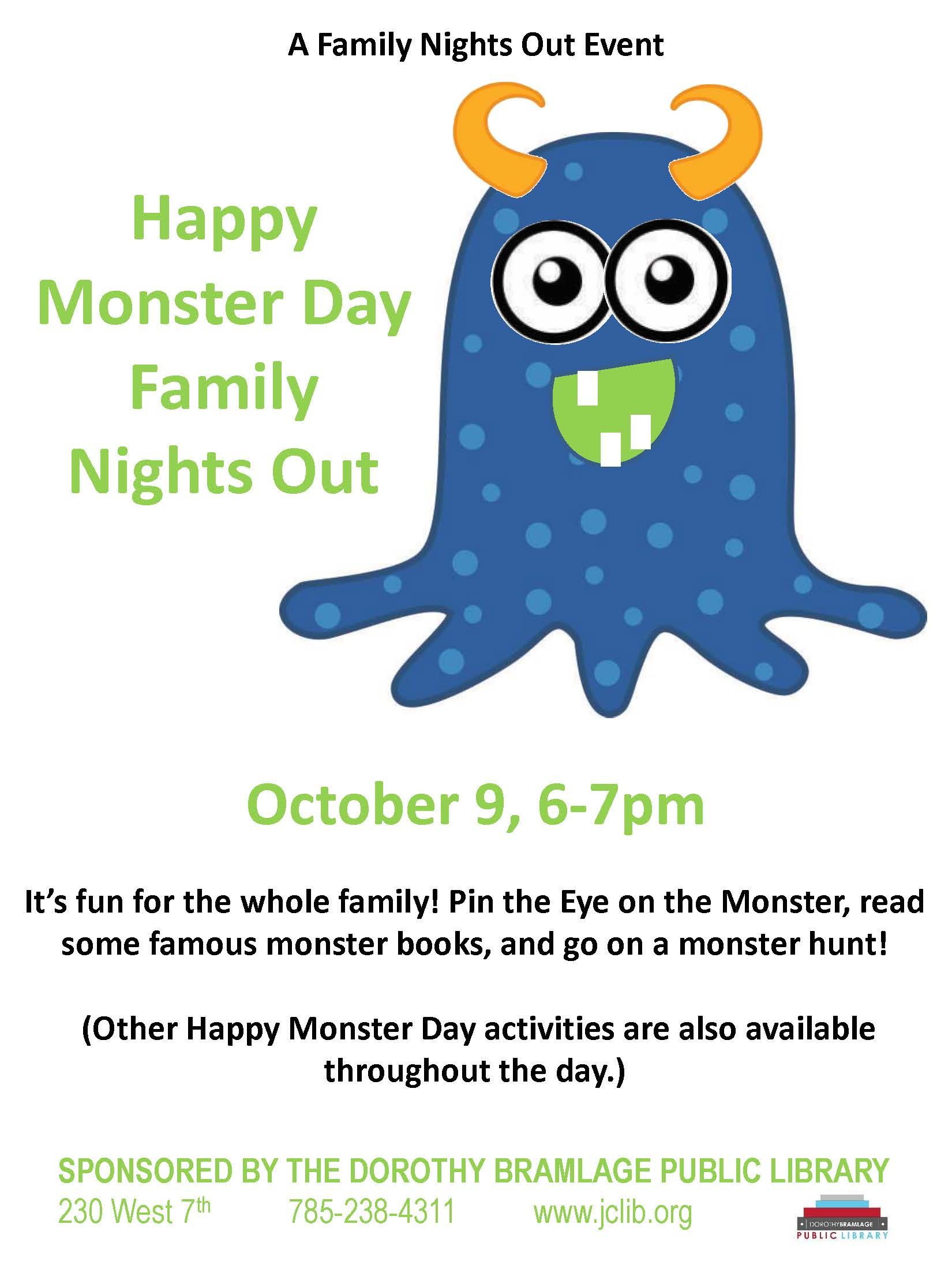 Monster Day Family Night Out Flyer