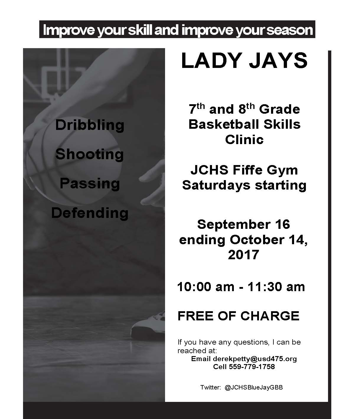 Lady Jays Basketball Flyer
