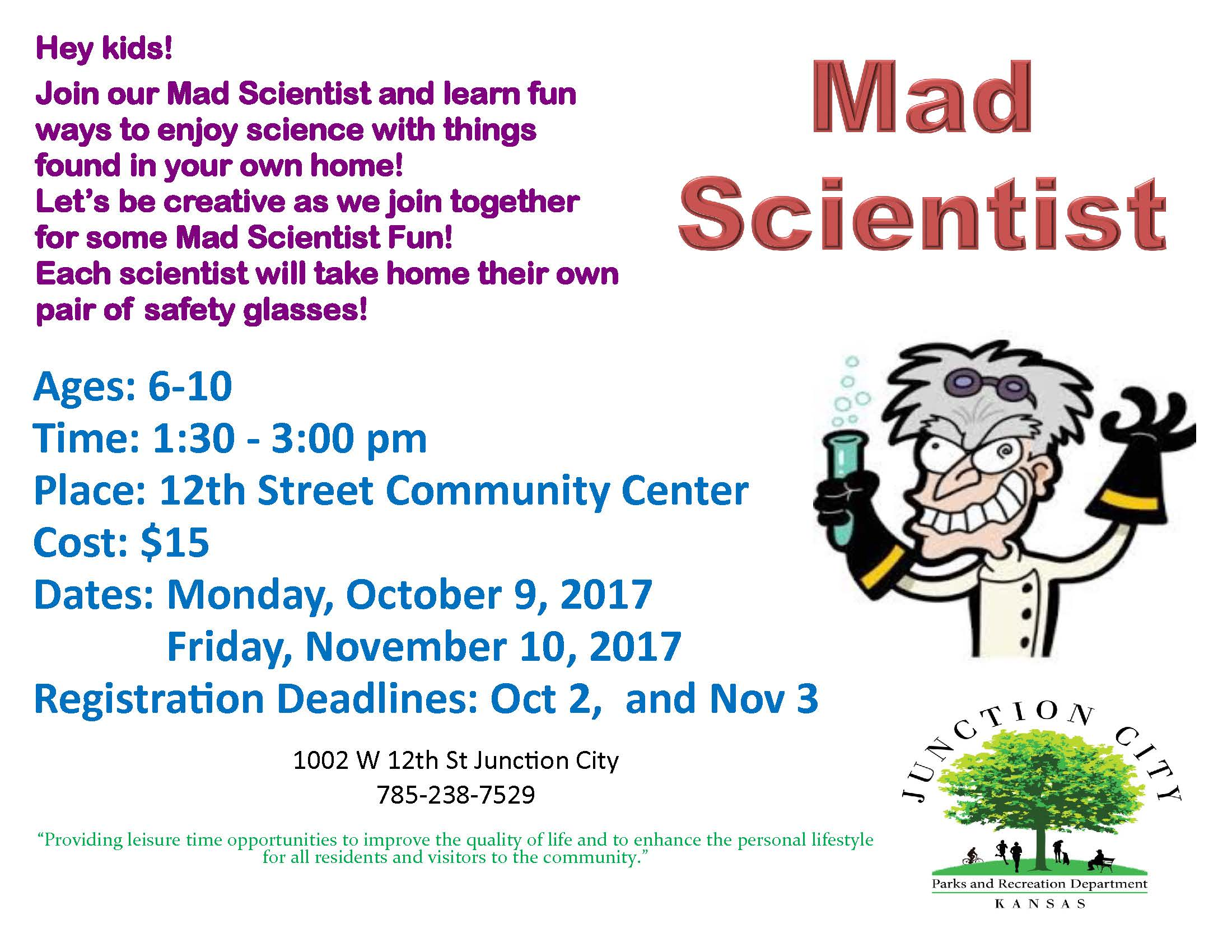 mad scientist flyer