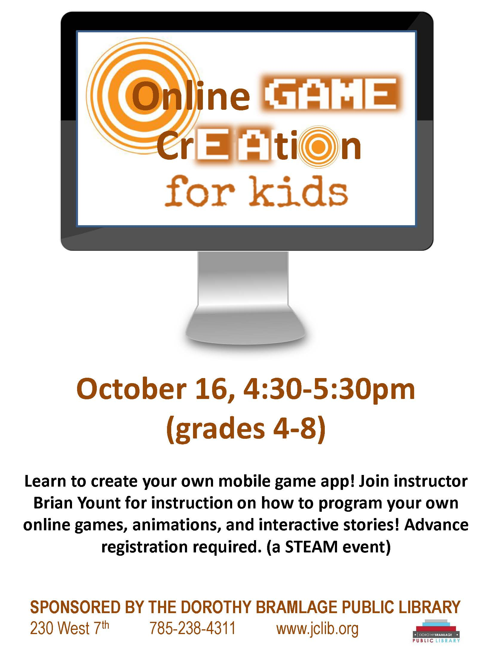 Online Game Creation Flyer