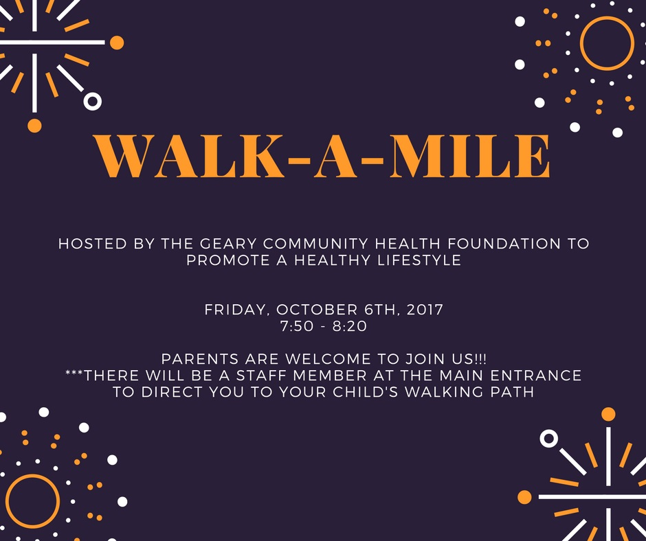 Fort Riley Middle School Walk a Mile Flyer