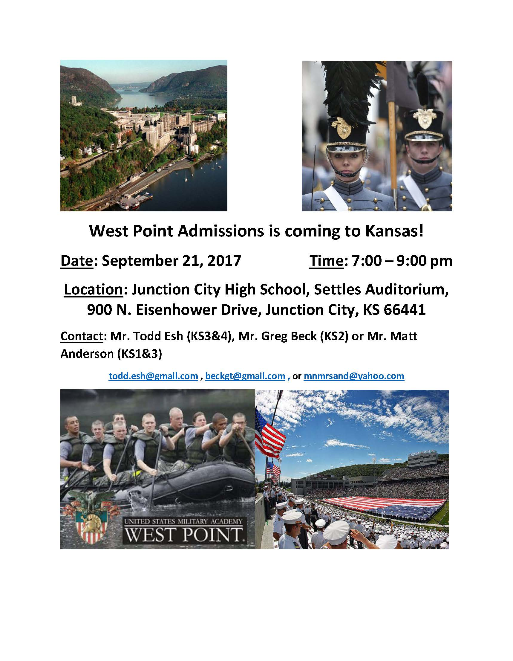 West Point Admissions Flyer