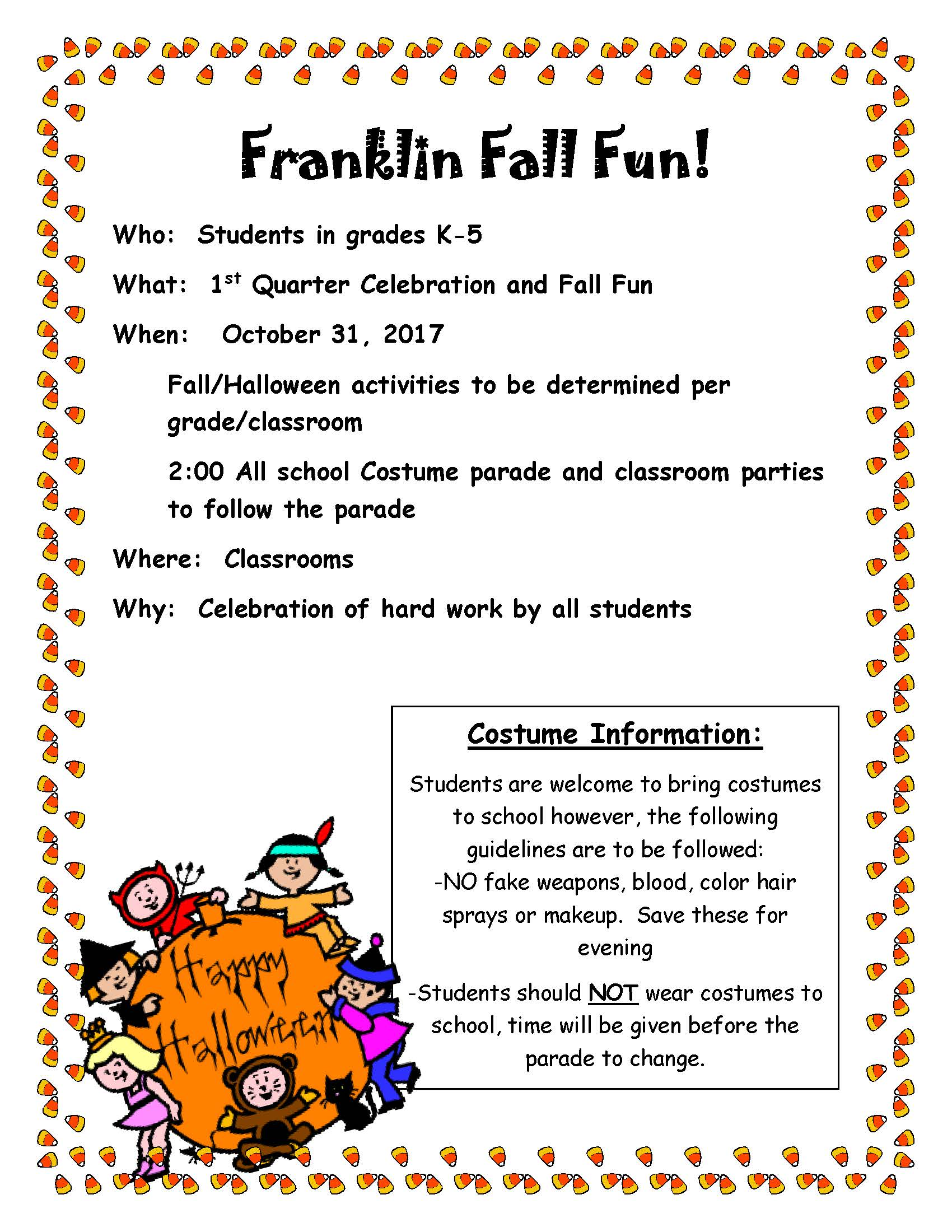 Franklin Elementary Fall Fun Flyer