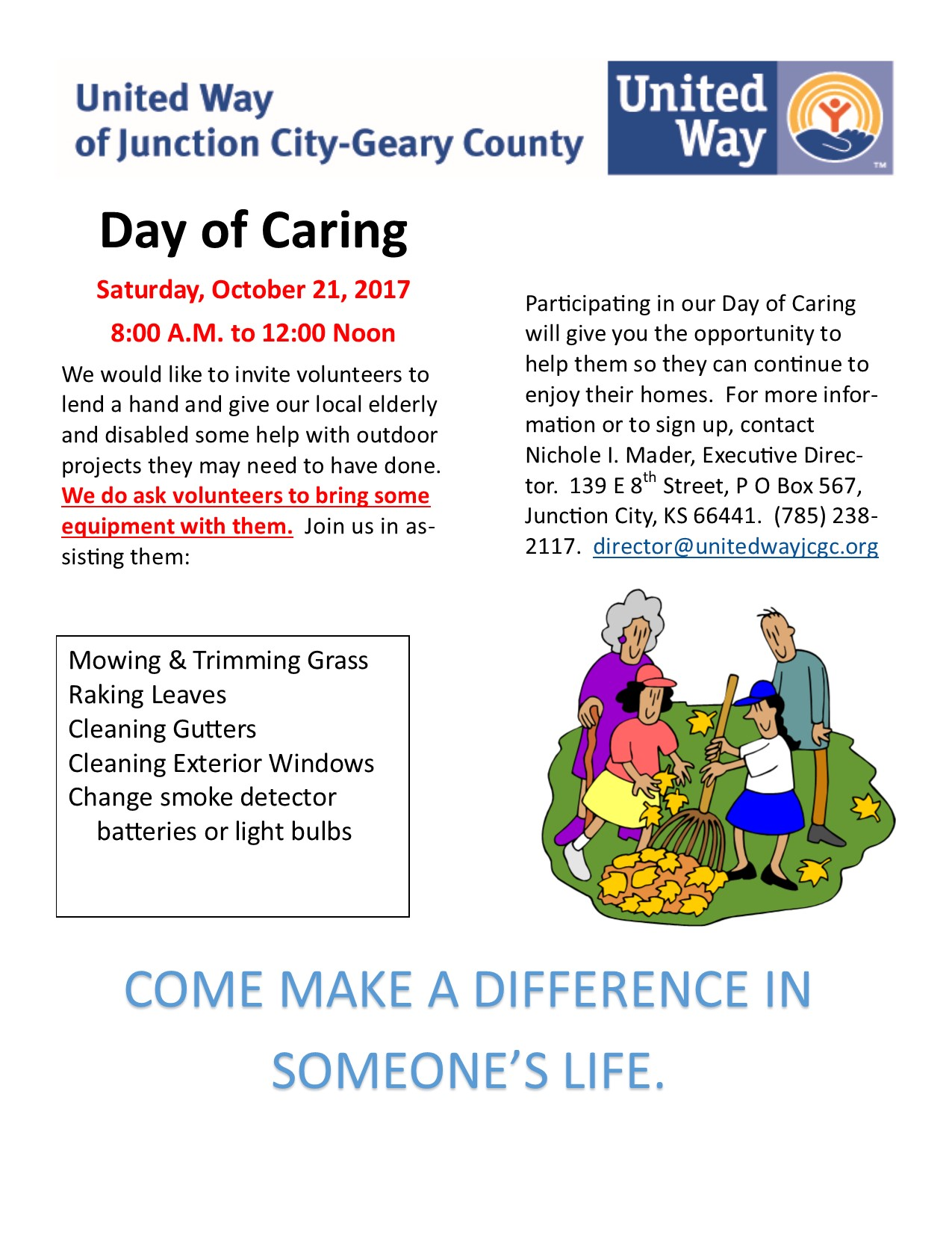 Day of Caring Flyer