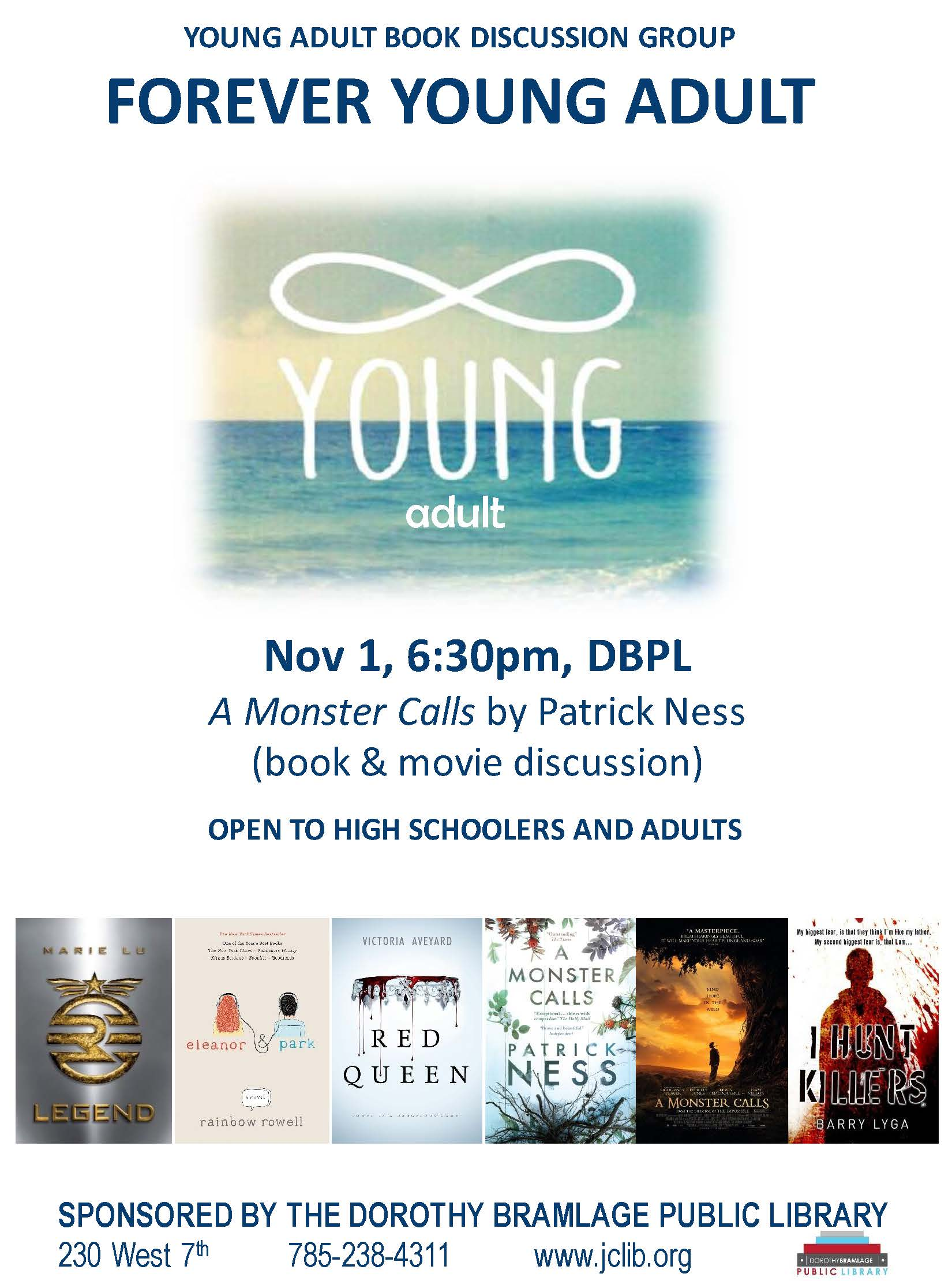Young Adult Book Club Flyer