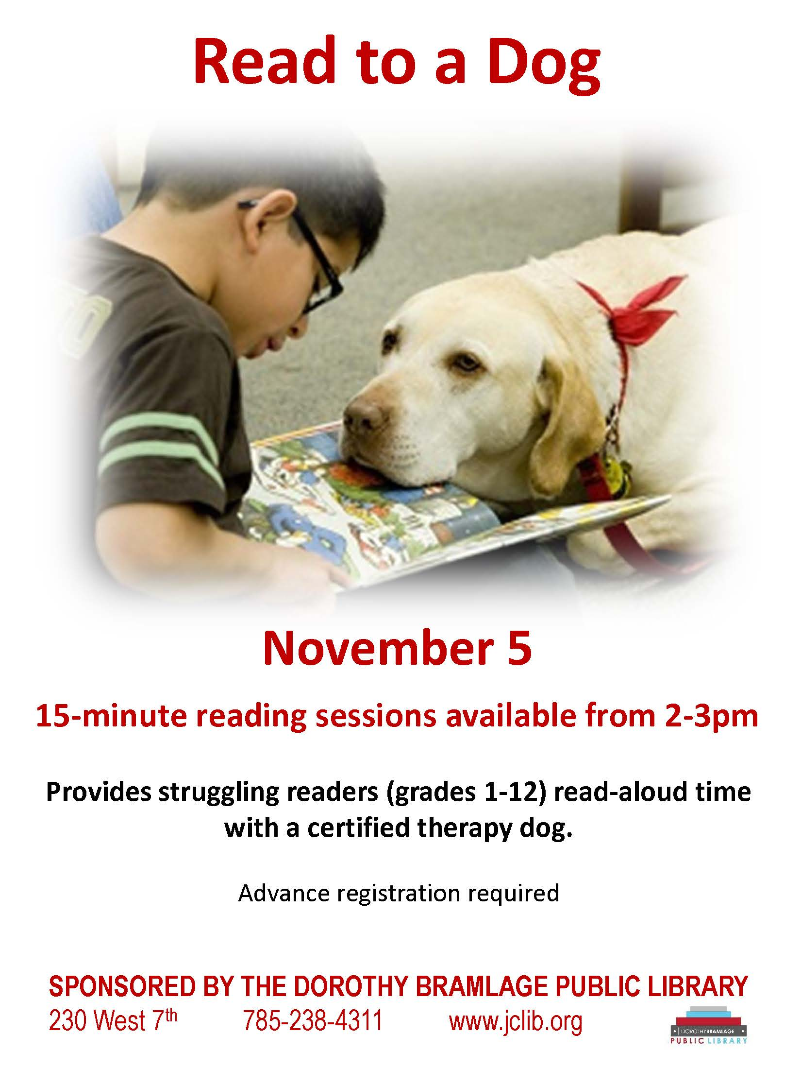 Read to a Dog Flyer
