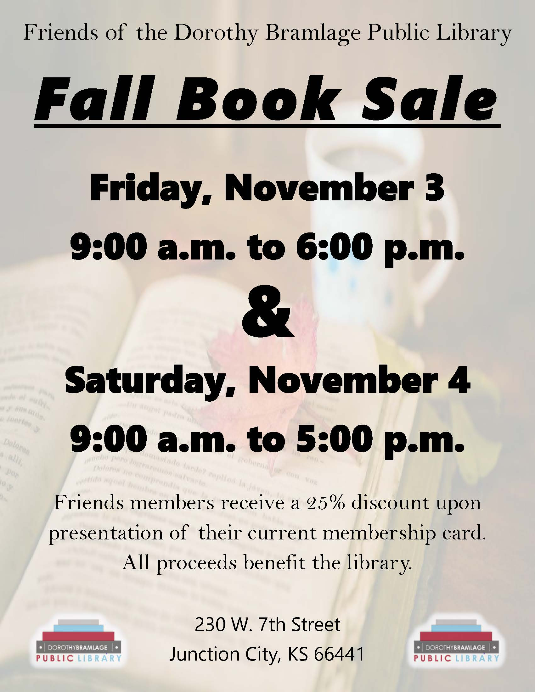 Library Book Sale Flyer