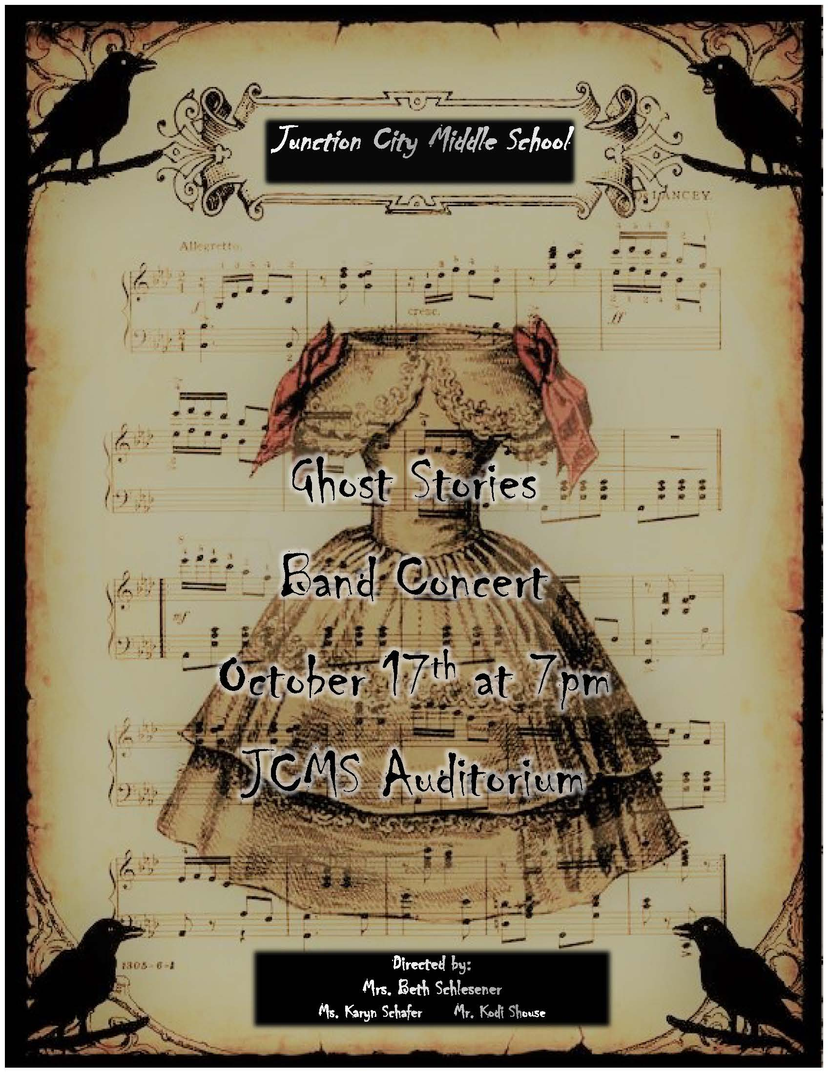 JCMS Ghost Stories Band Concert Flyer