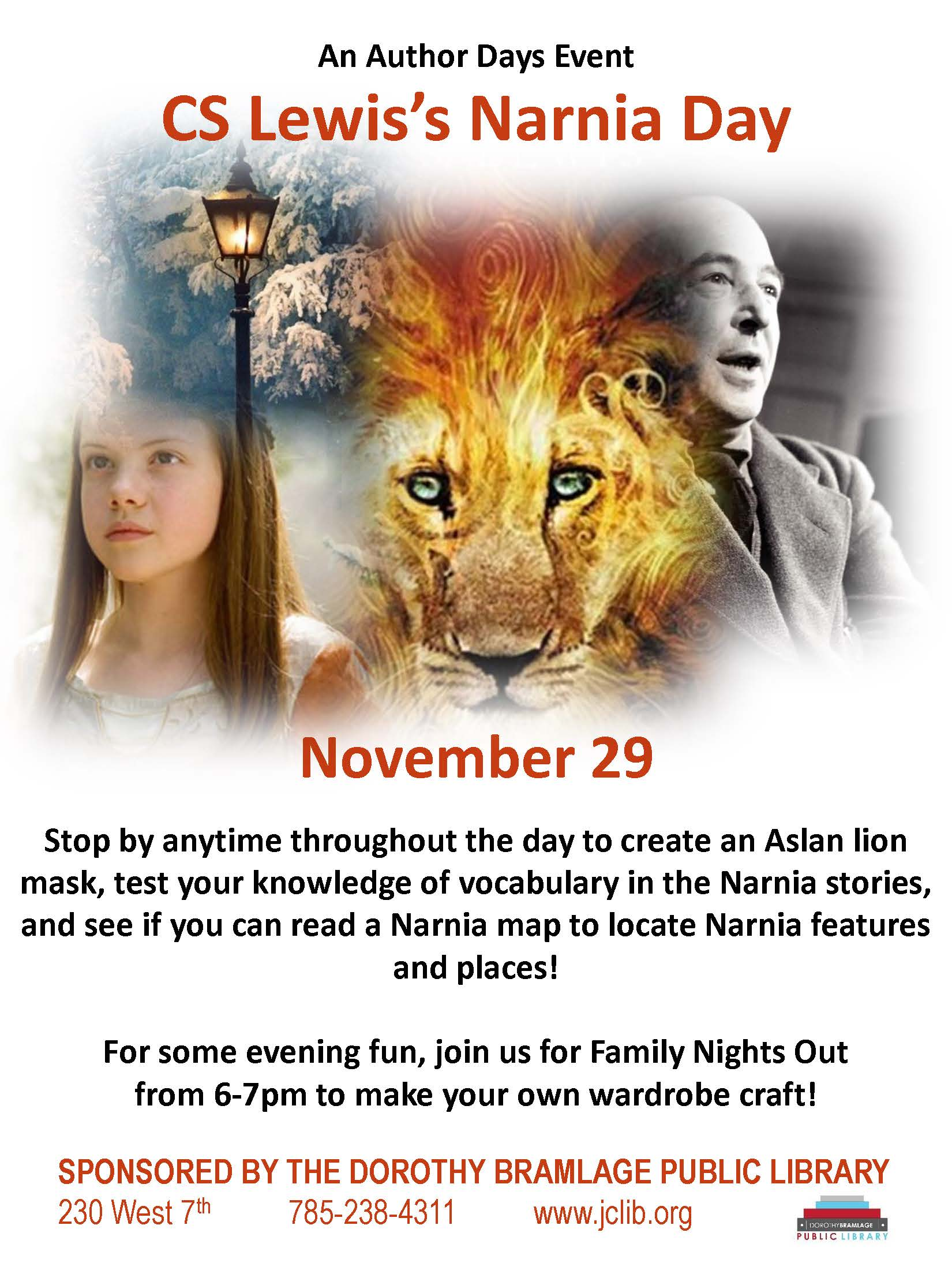CS Lewis's Narnia Day Flyer