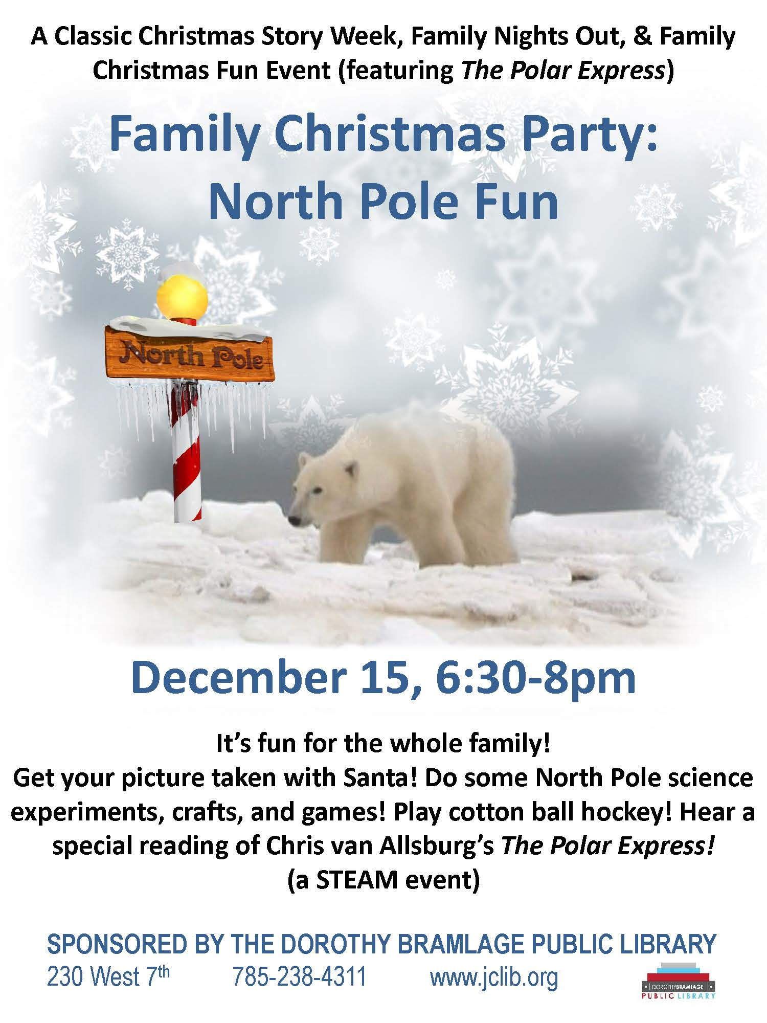 North Pole Library Flyer