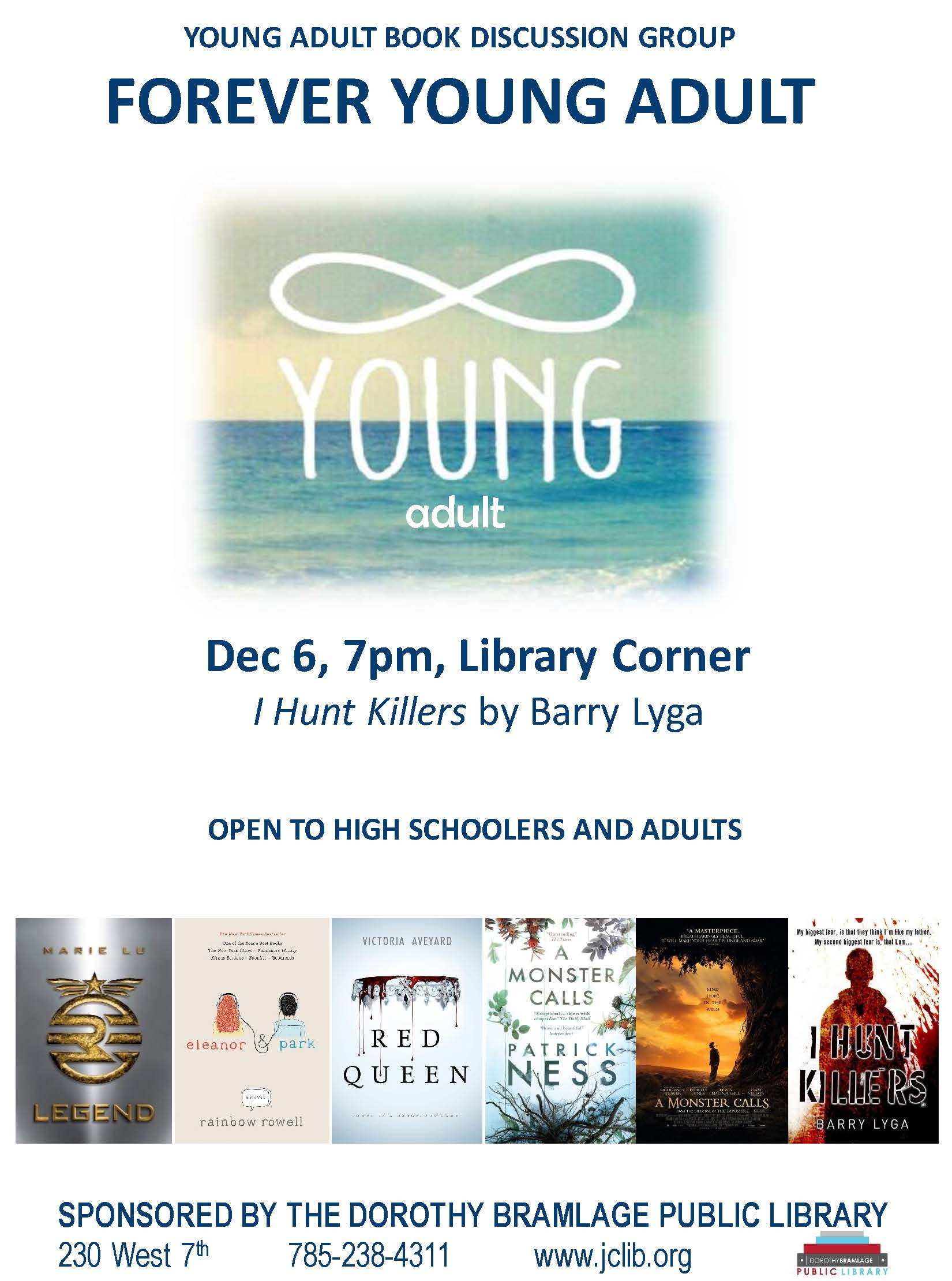 Young Adult Book Discussion Flyer