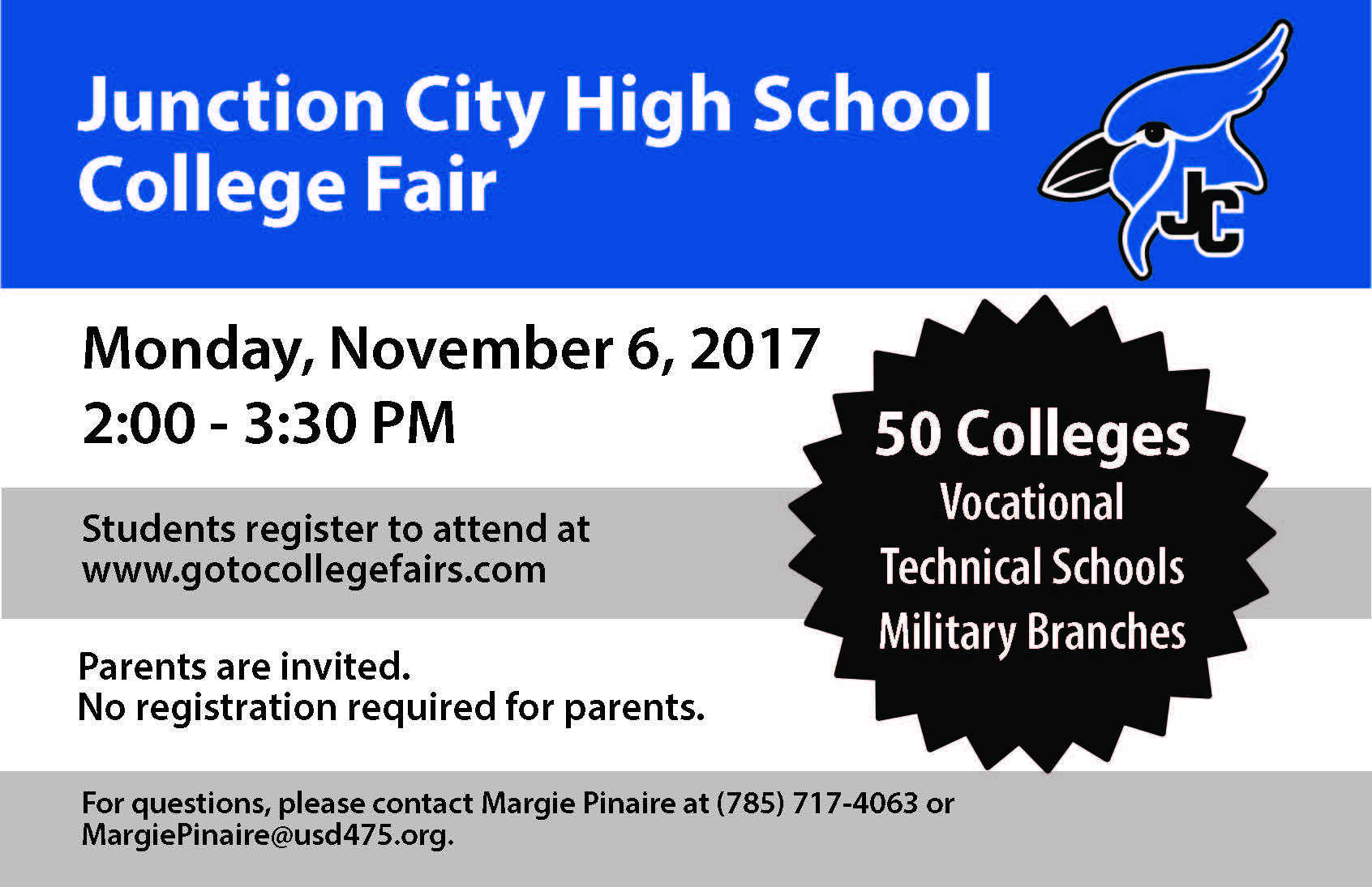 JCHS College Fair Flyer