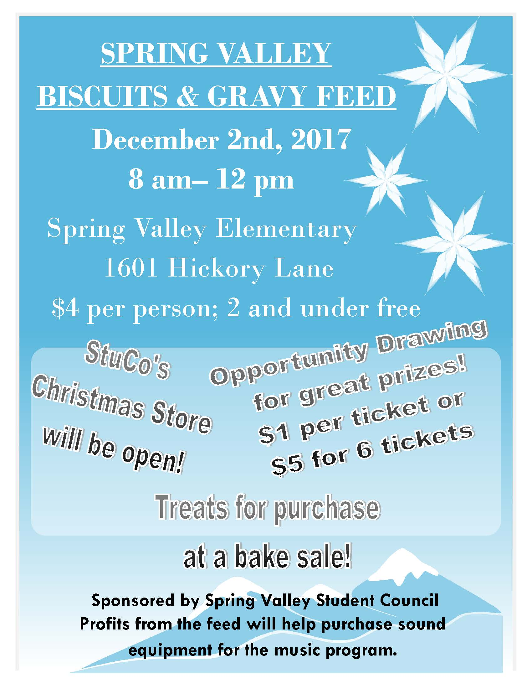 SV Biscuits and Gravy Feed Flyer