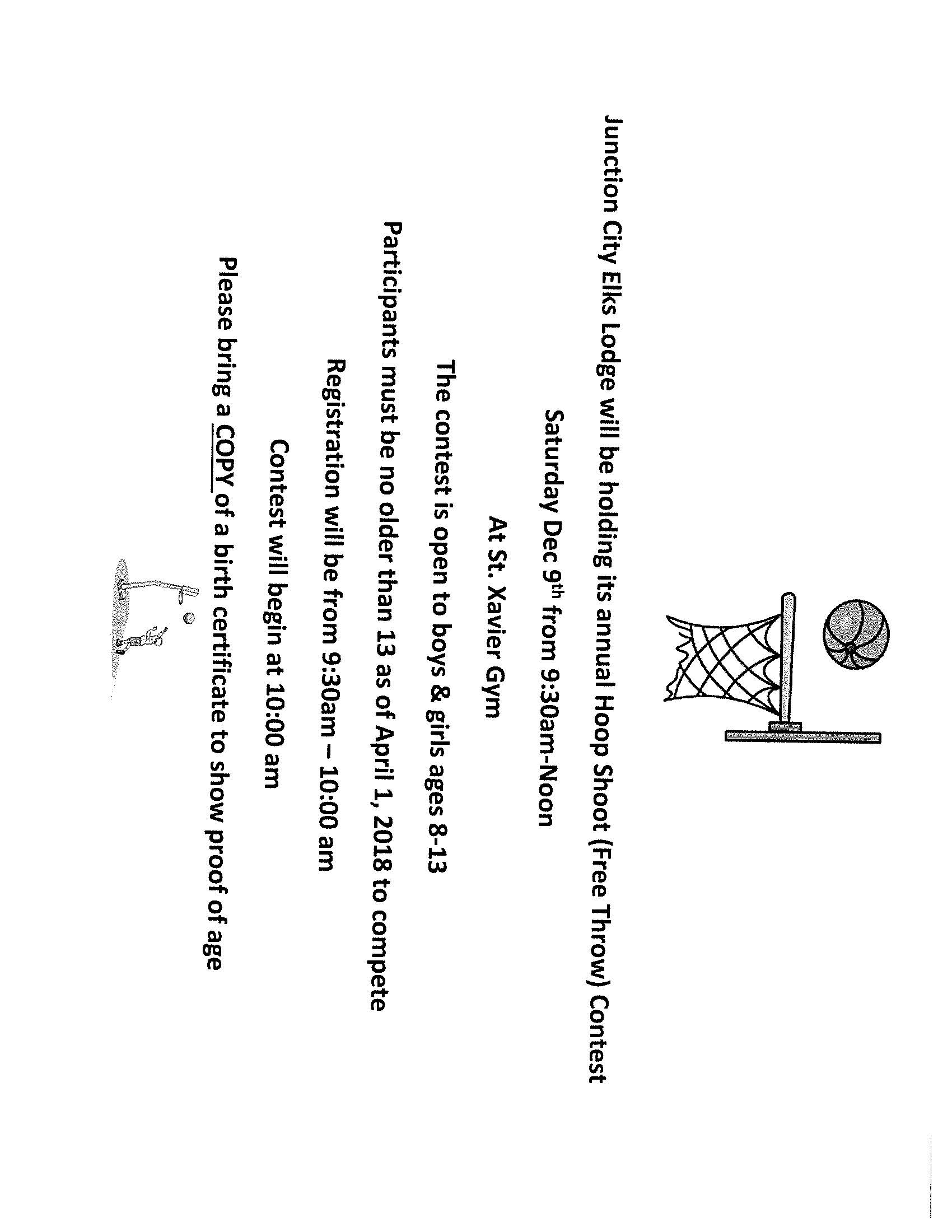 Hoop Shoot Flyer