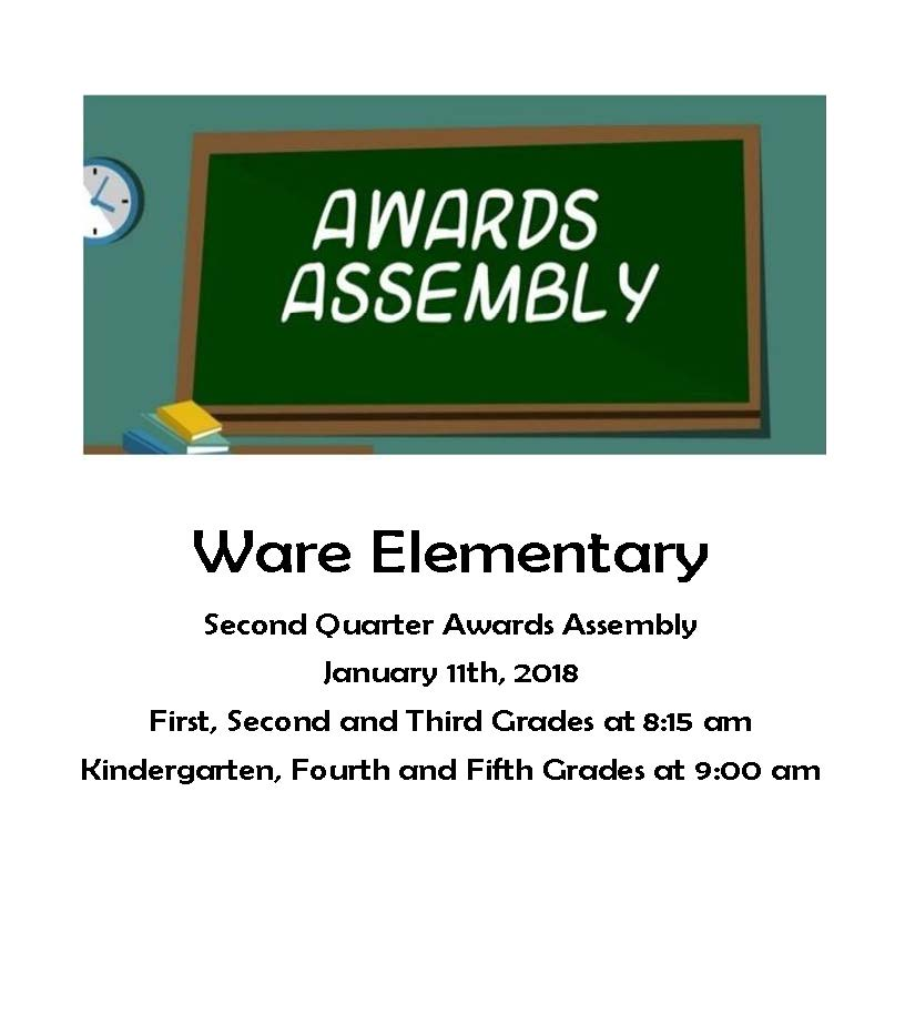 Ware Awards Assembly