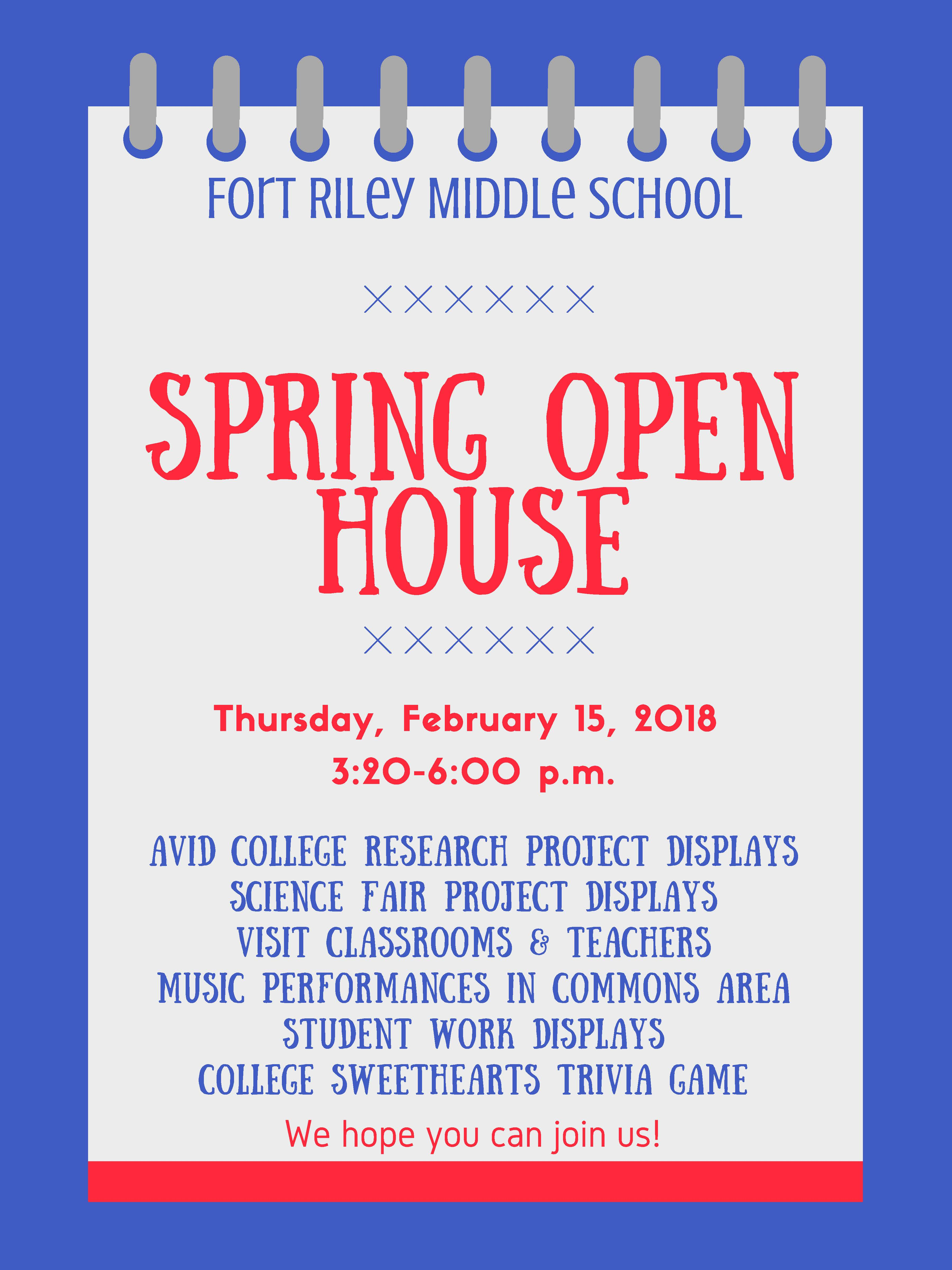 FRMS Open House Flyer