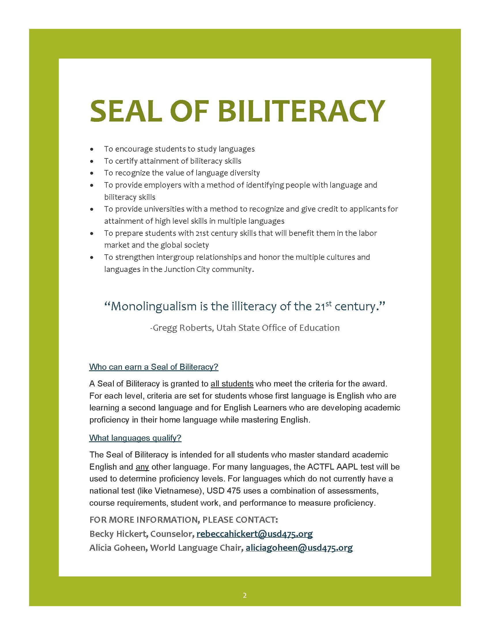 Seal of Biliteracy Flyer page 2