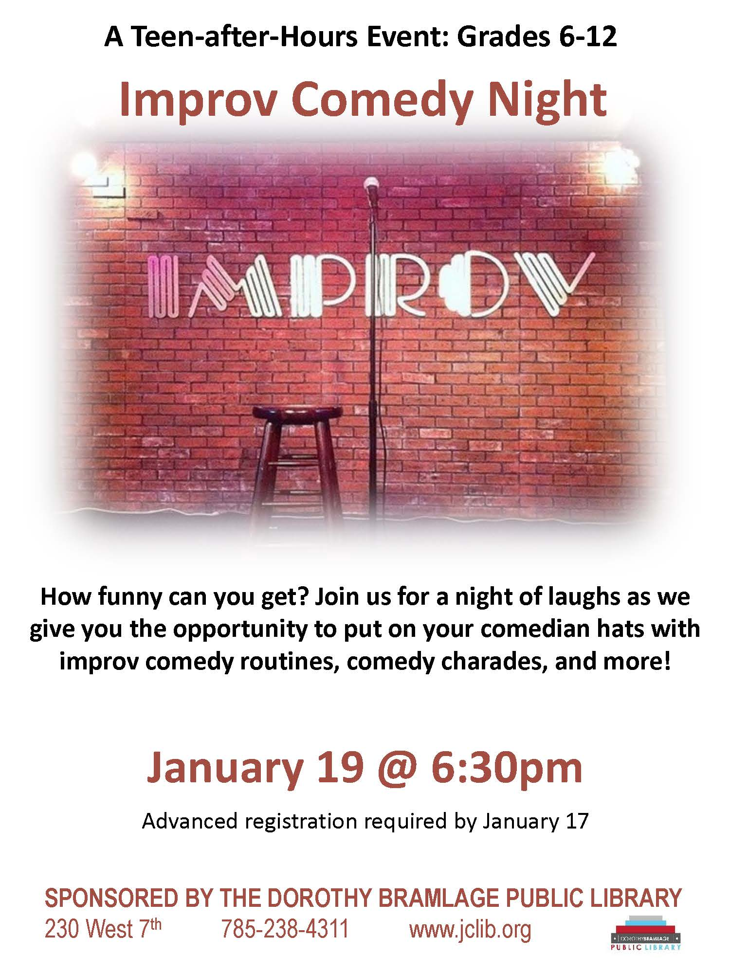 Improv Comedy Flyer