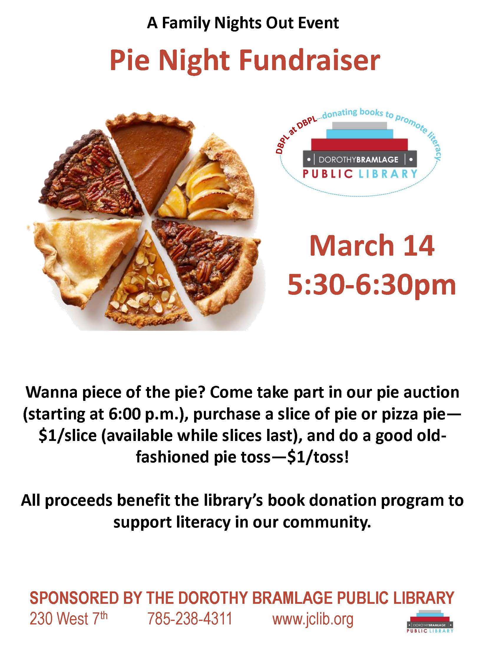Pie Night Out Flyer