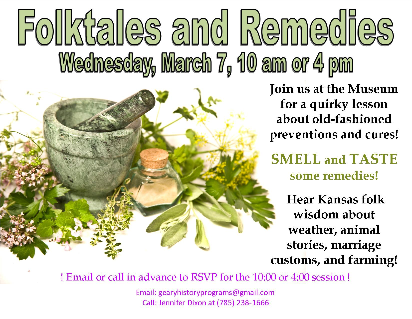 Foldtales and Remedies Flyer