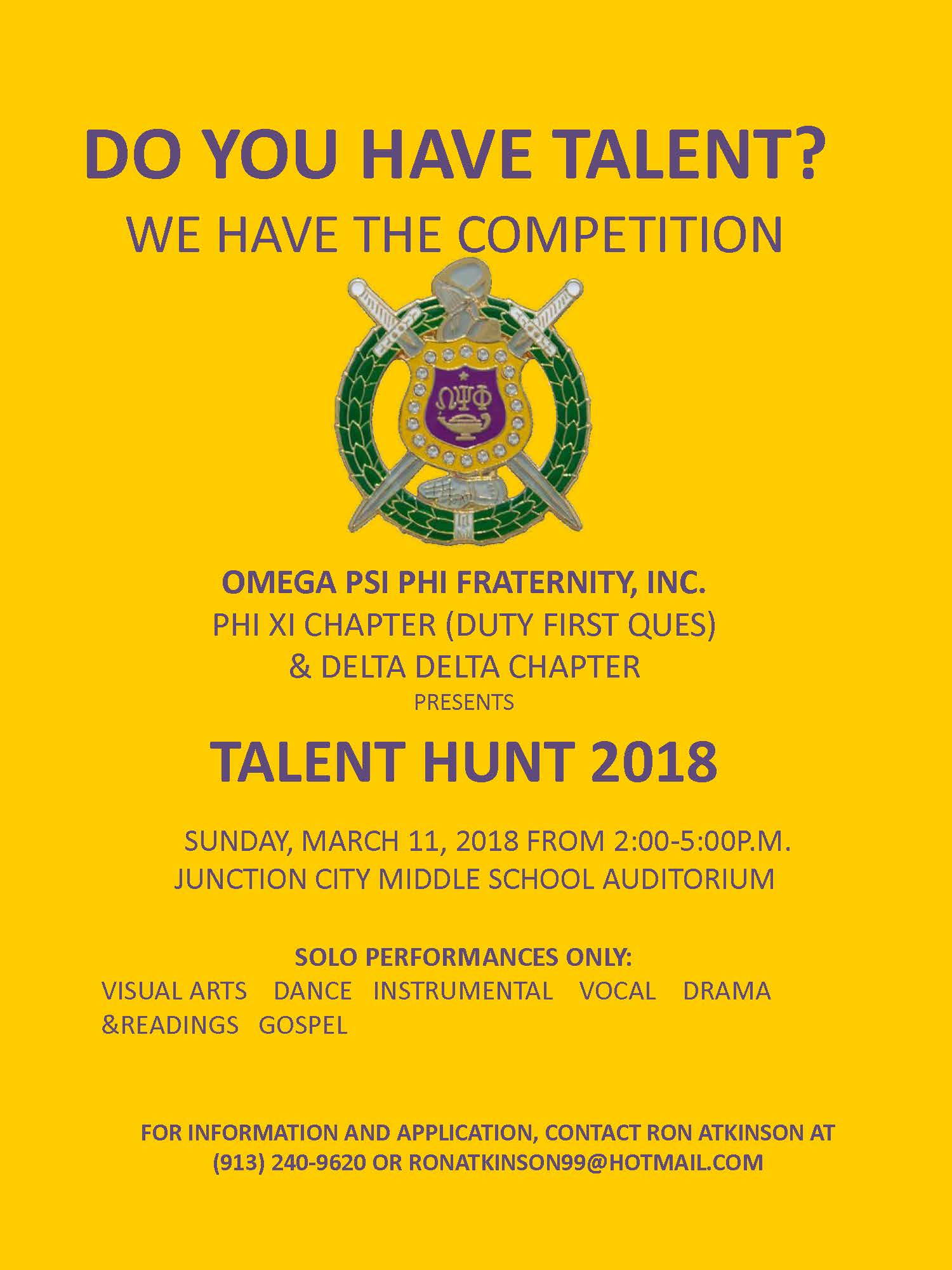 Talent Show 2018 Flyer