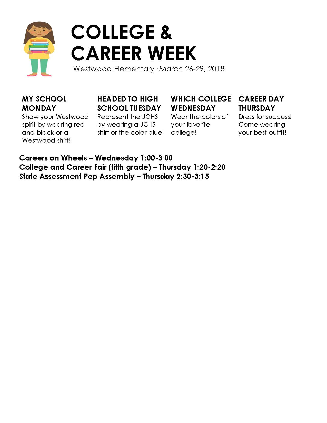 College and Career Week Flyer