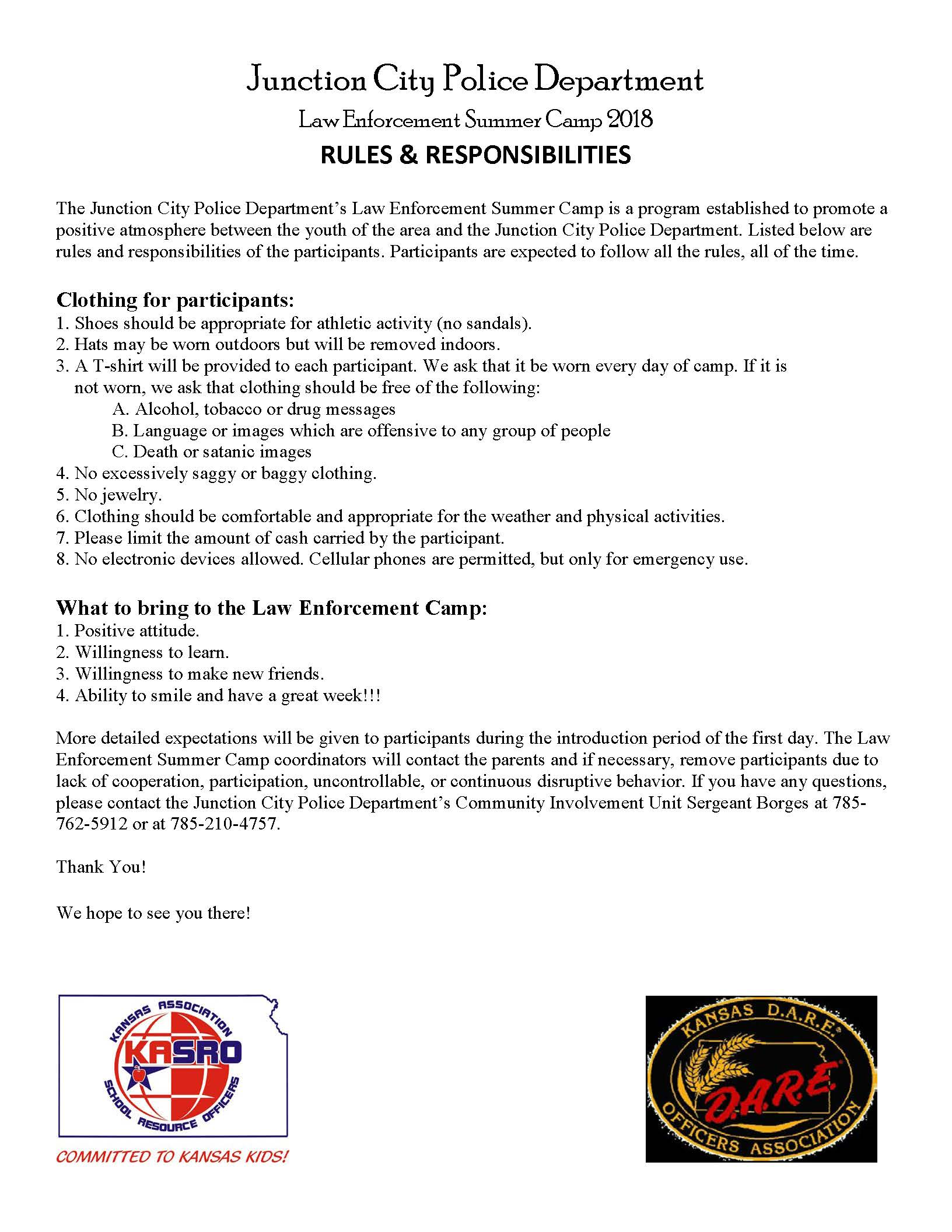Summer Law Enforcement Camp Page 2