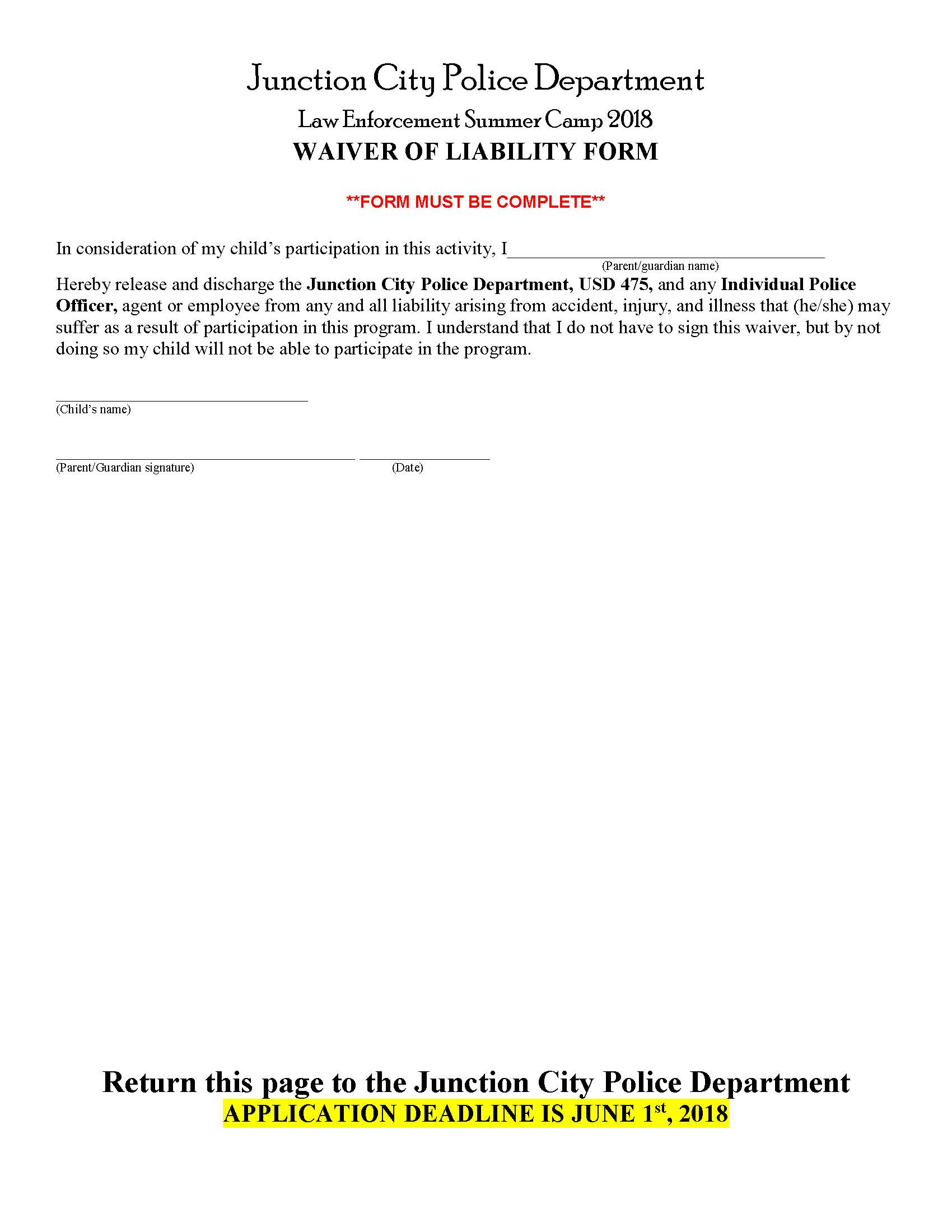 Summer Law Enforcement Camp Page 4