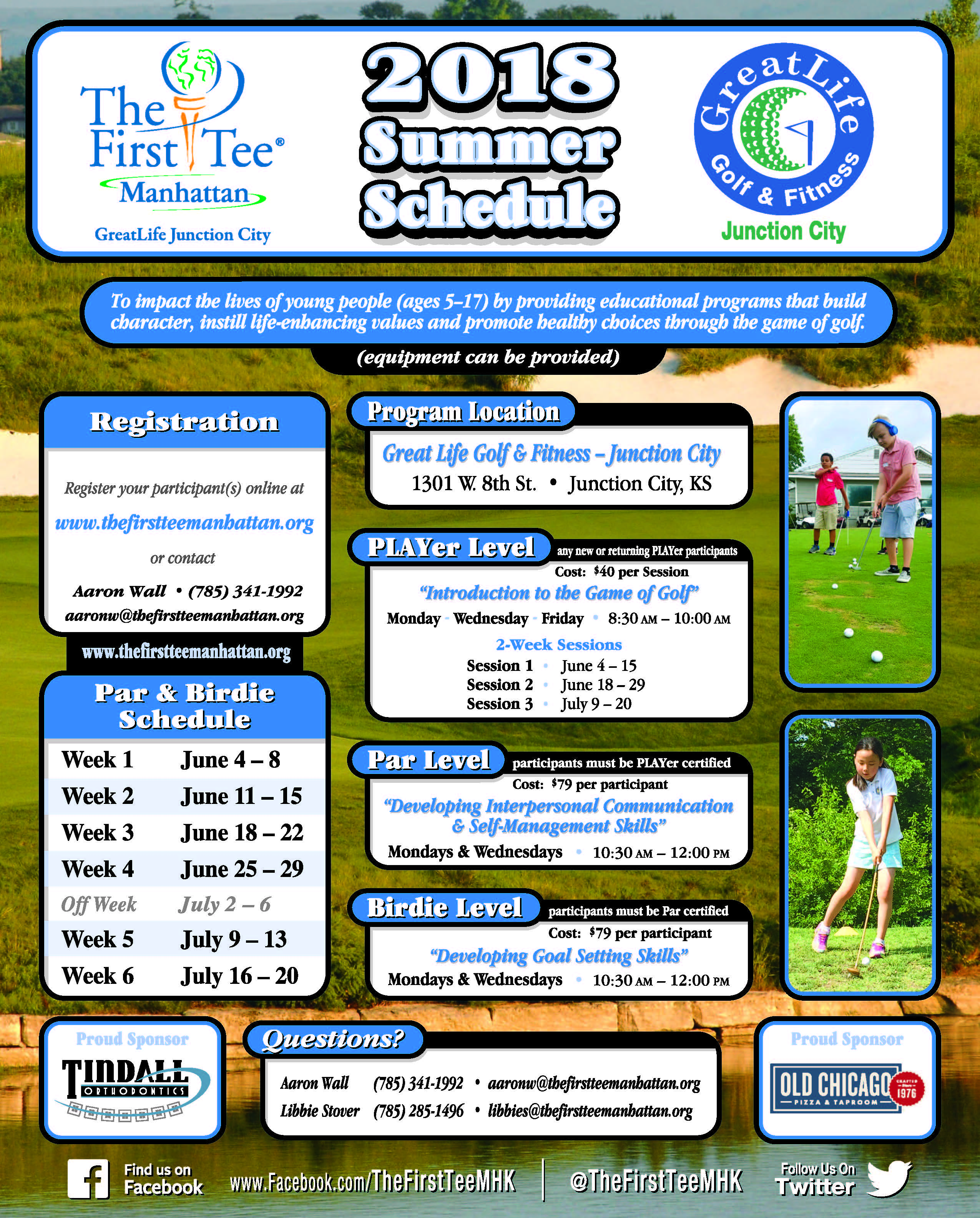 The First Tee Flyer page 1