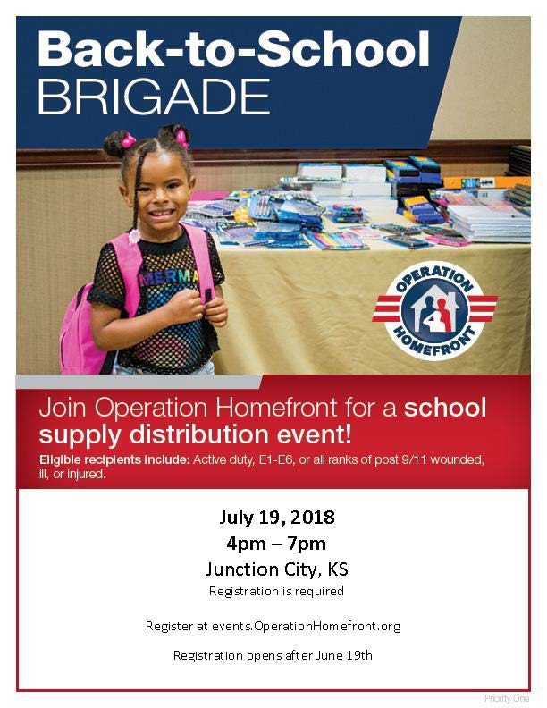 Back to School Brigade Flyer