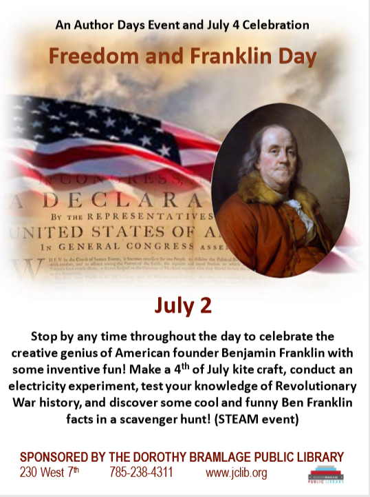 Flyer for Freedom and Franklin Day.
