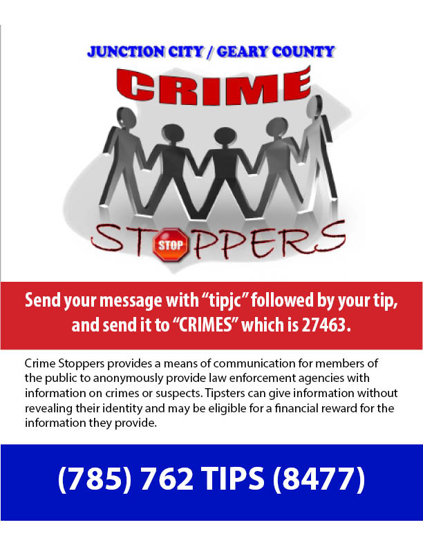 Flyer for Crime Stoppers.