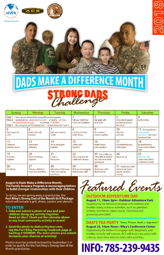 Strong Dads Challenge Flyer