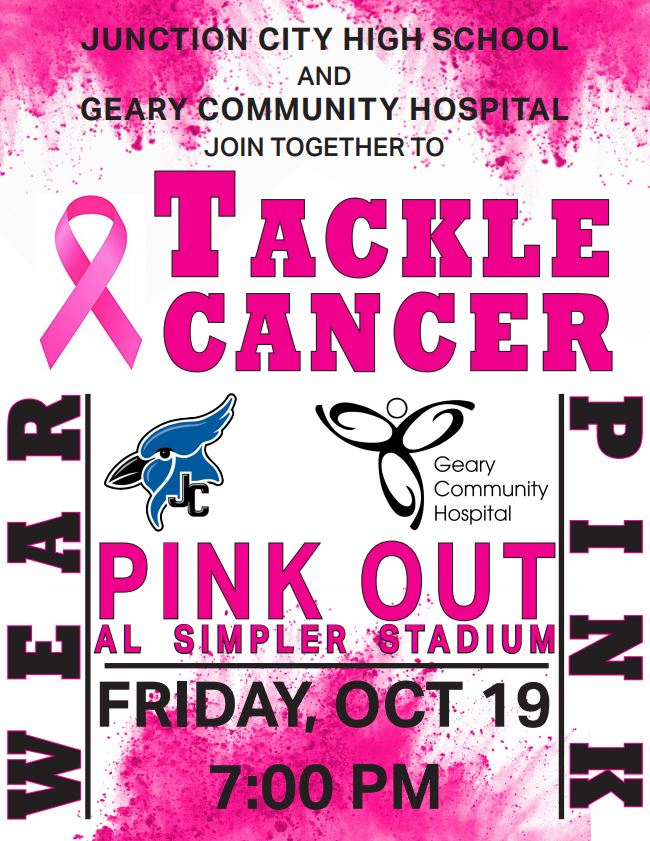 Flyer for Pink Out game. All information is above.
